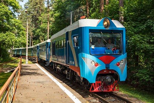 Locomotive, Diesel Locomotive, Cars, Train