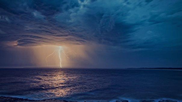 Lightning, Storm, Thunderstorm, Electricity, Night