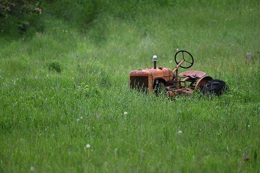 Tractor, Antique, Rust, Old, Farm, Vehicle, Machine
