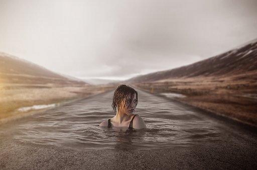 Girl, Swim, Swimming, Water, Woman, Sea, Diving