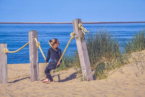 Beach, Sea, Girl, Young Girl, View To The Sea, Sand