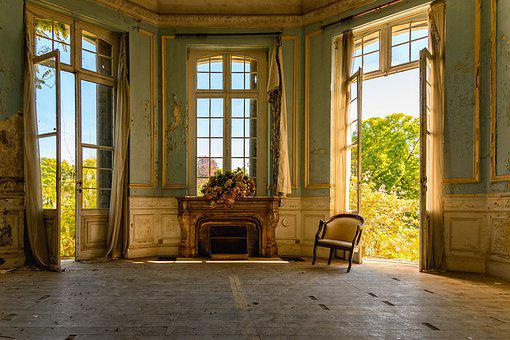 Salon, Space, Room, Interior, Style, Lost Places