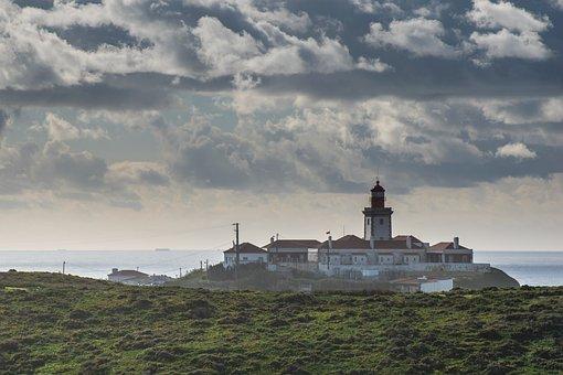 Lighthouse, Landscape, Clouds, Sky, Coast, Coastline
