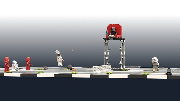 Lego, Star Wars, Stormtrooper, Minifig, Tennis, Play