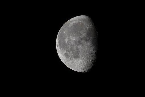 Moon, Slimming, Dark, Night, Dreiviertelmond, Ache