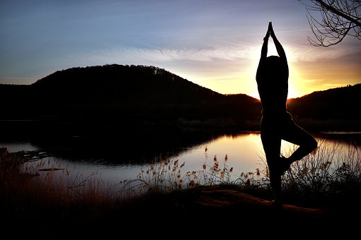 Sunset, Sky, Nature, Tree, Yoga, Dancing, Forest