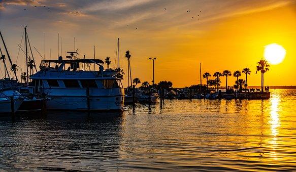 Gulf, Ocean, Marina, Florida, Sky, Water, Beach