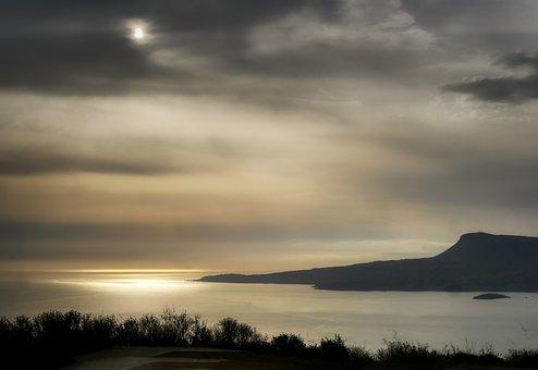 Aptera, Crete, Greece, Outlook, Sunrise, Sea Bay