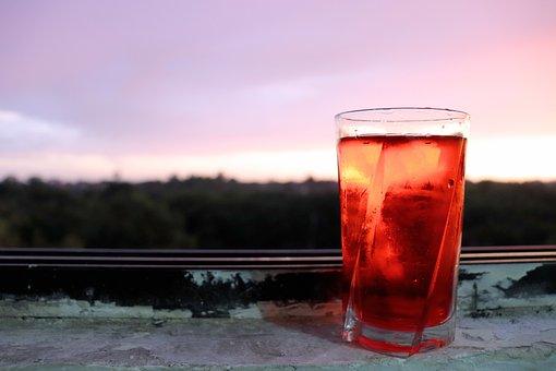 Glass, Evening, Ramadhan, Drink, Window, Sky, Dusk, Red