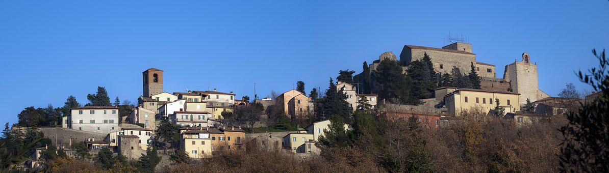 Verucchio, Romagna, Landscape, Valmarecchia, Hills