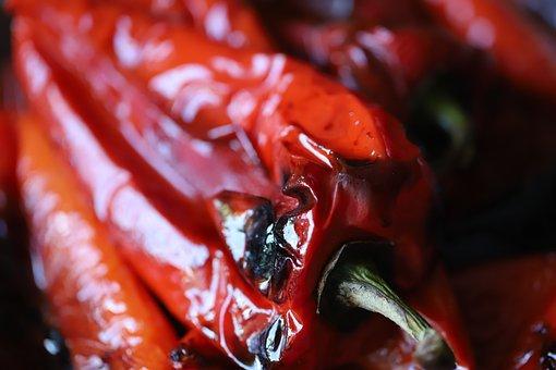 Pepper, Pepper Baked, Salad, Homework, Simple Retsert
