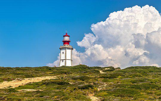 Cable, Lighthouse, Tower, Landscape, Cloud, Sky, Hdr