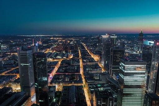 Frankfurt, City, Skyline, Skyscraper, Architecture