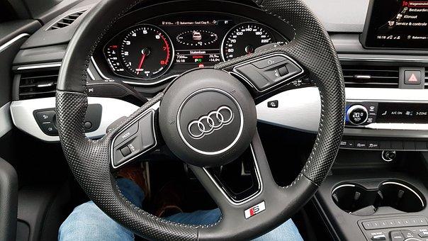 Audi Interior, Audi Steering Wheel, Speedometer
