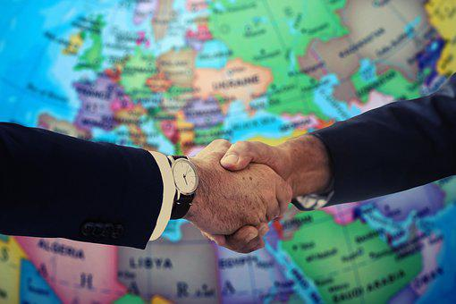 Handshake, Shaking Hands, Europe, Asia, Orient, Suit