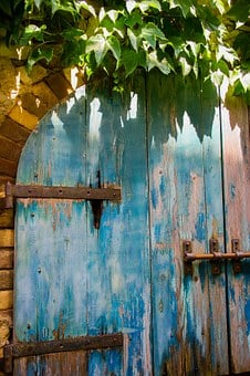 Door, Old, Blue, Wood, Wooden, Rustic, Grungy, Aged