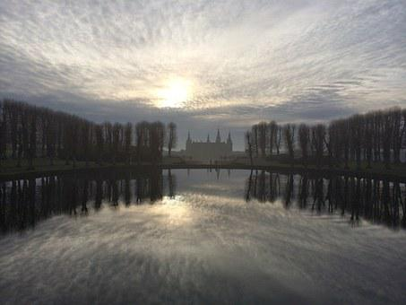 Castle, Sunset, Natural, Sky, Ballance, Ro, Landscape