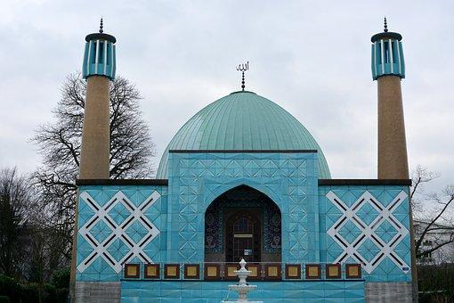 Hamburg, Blue Mosque, On The Alster, Islam, Shia, Iran
