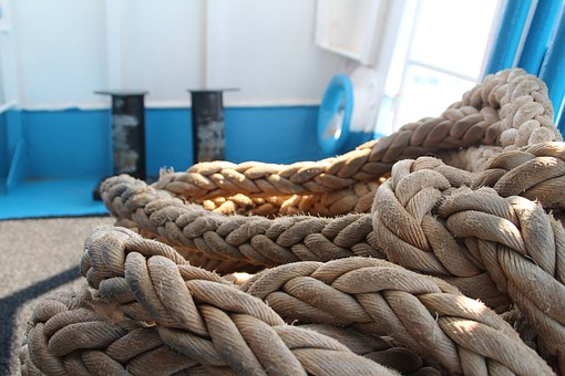 Ship, Rope, Ships, Hawser, Blue, Port, Water, Cutter