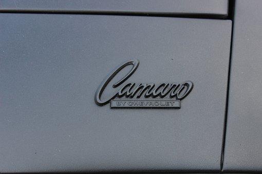 Chevrolet, Camaro, Sports Car, Symbol, Icon, Lettering