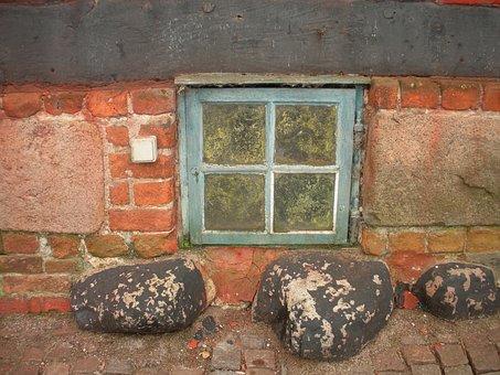 Old Merchant's House, Detail, Basement Window, Blue