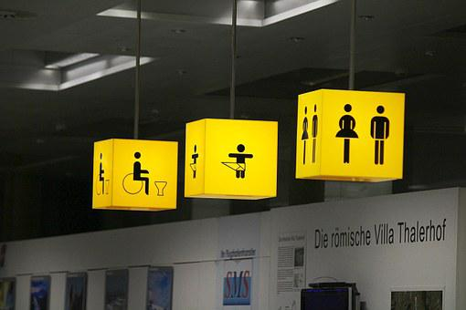 Toilets, Baby Changing Area, Disabled Toilet, Loo, Man