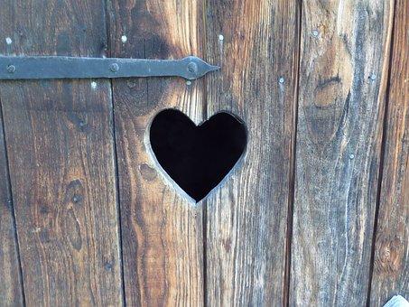 Heart, Village, Stilles, Wood, Door, Peace And Quiet