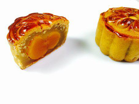 The Mid-autumn Festival, Moon Cakes, Egg Yolk Moon Cake