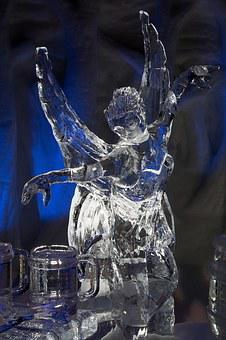 Ice, Sculpture, Elf, Fee, Winter, Art, Fig, Cold, Shiny