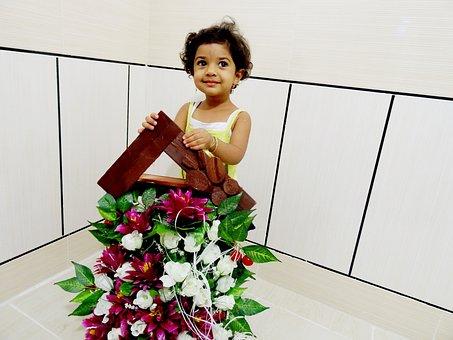 Flower, Baby, Baby Girl, Little, Cute, Child, Girl
