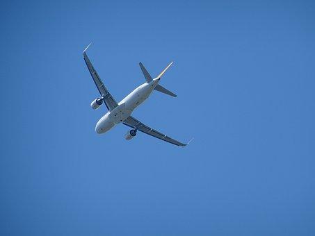 Aircraft, Engine, Blue Sky, Fly, Drive, Rear, Landing