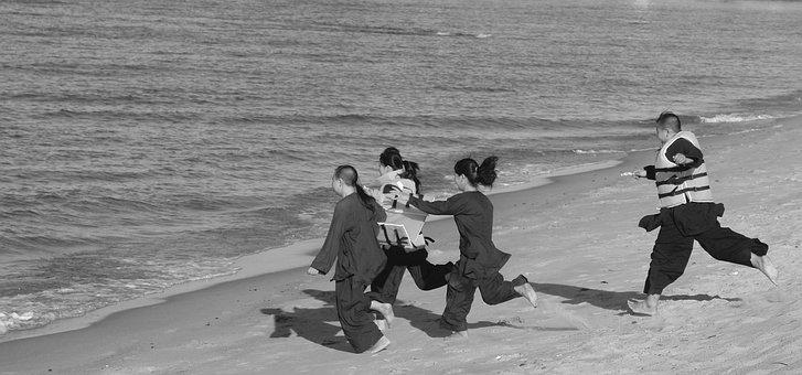 Four Children, Nha Trang Beach, Nhatrang Fly