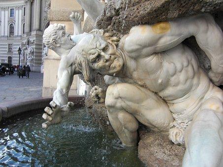 Hofburg Imperial Palace, Vienna, Austria, Fountain