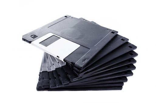 Isolated, Floppy, File, Save, White, Record, Media
