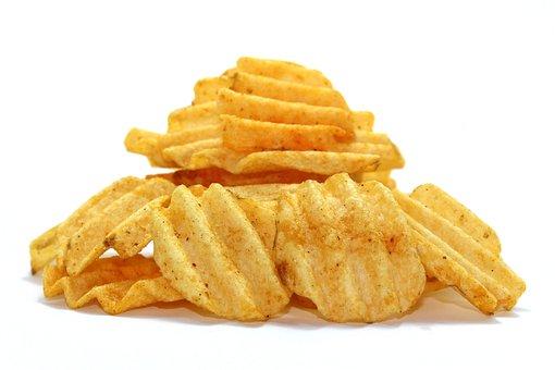 Snack, Snacking, Potatoe, Food, Bowl, Junk, Closeup