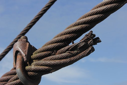 Steel Cable, Steel, Cable, Rusty, Knot, Broken