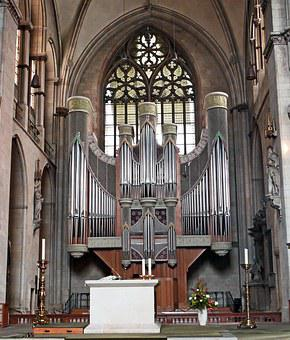 Münster, Dom, Main Organ, Aisle, Space-filling, Altar