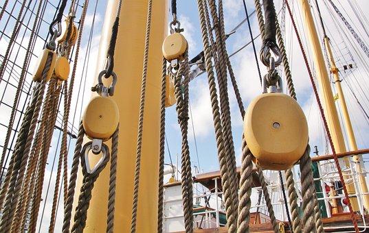Rigging, Sail, Ship, Sailing Vessel, Masts, Cordage