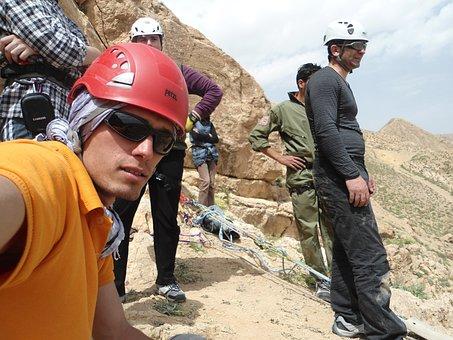 Climbers, Mirabad, Nishapur, Iran, Sport, People