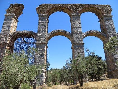 Lesbos, Aqueduct, Moria, Water Pipe, Romans, Arch