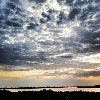 Sky, Sudan, Nile River, Sunset, Evening, Dusk