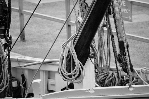 Strings, Nodes, Wood, Rigging, Mats, Sailboat, Boat