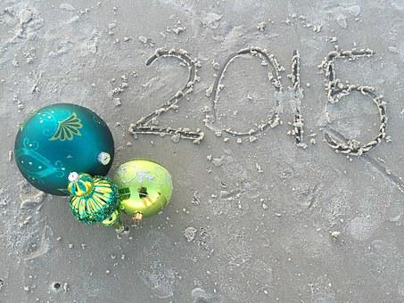 Beach, Christmas, Florida, Waves, Gold, Teal, Ocean