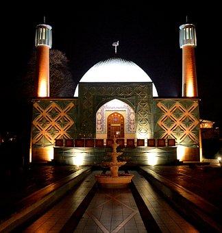 Hamburg, Blue Mosque, On The Alster, Iran, Islam