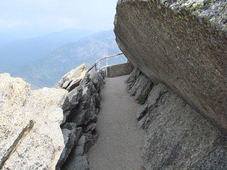 Moro Rock, Path, Sequoia National Park, California