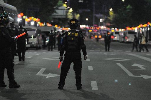 Republic Of Korea, Riot Police, Protest, Police