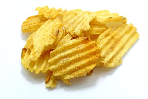 Snack, Snacking, Potatoes, Food, Bowl, Junk, Closeup