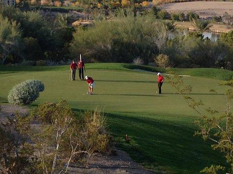 Golf, Green, Golfing, Putting, Putt