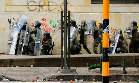Protest, Bogota, Police, Riot, Swat, Special Forces