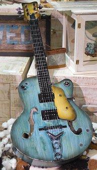 Art, Guitar, Music, Musical, Instrument, Rock, Sound